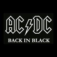AC DC black logo