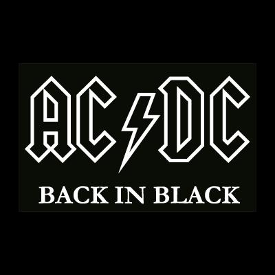 AC DC black logo vector logo