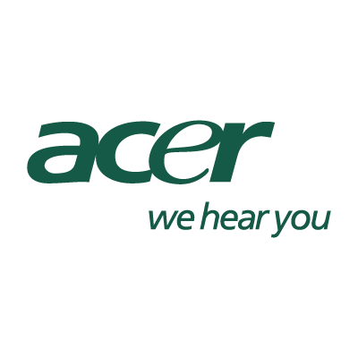 Acer we hear you logo vector logo