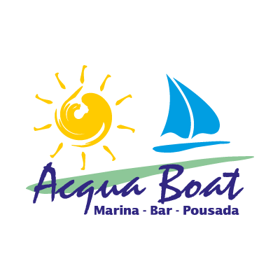 Acqua Boat logo vector logo