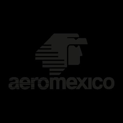 AeroMexico Black logo vector logo