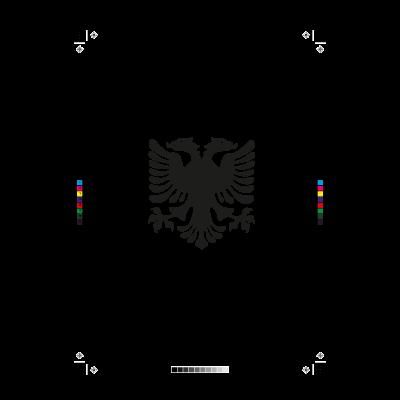 Albanain eagle logo vector logo