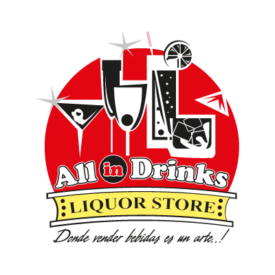 All in Drinks logo vector logo