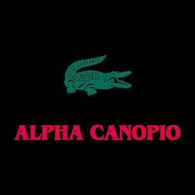 Alpha lacoste logo vector logo