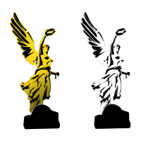 Angel de la independencia vector