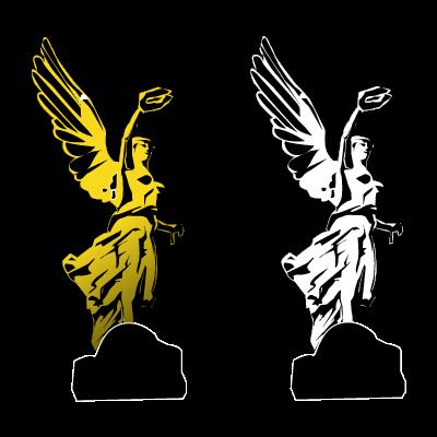 Angel de la independencia vector logo