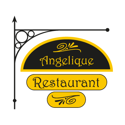 Angelique Restaurant logo vector logo