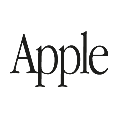 Apple (text) logo vector logo