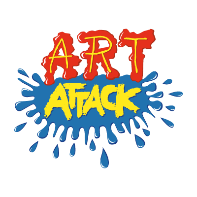 Art attack logo vector logo