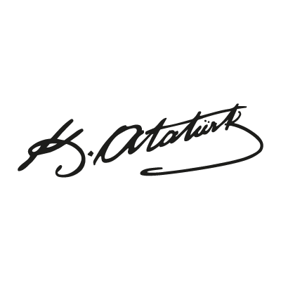 Ataturk (text) logo vector logo