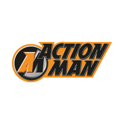 Action Man logo vector logo