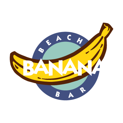 Banana Beach Bar logo vector logo