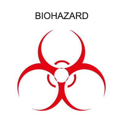 Biohazard Band logo vector logo