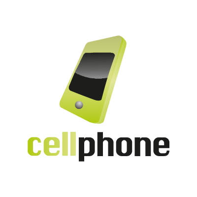 Cell phone logo vector logo