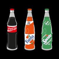 Coca-Cola 3 Products logo