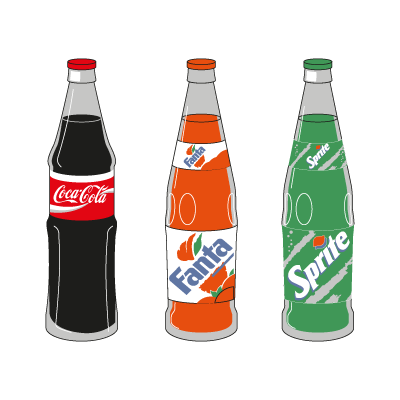 Coca-Cola 3 Products logo vector logo