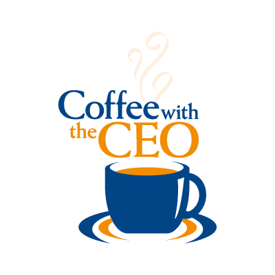 Coffee with the CEO logo vector logo