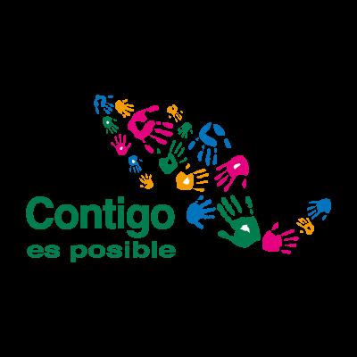Contigo es Posible logo vector logo