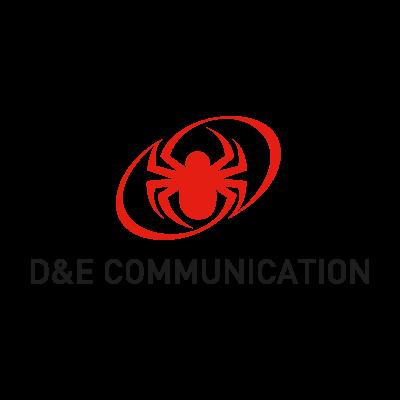 D&E Communication logo vector logo