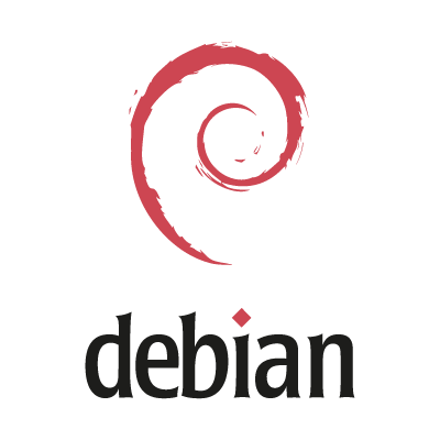 Debian logo vector logo