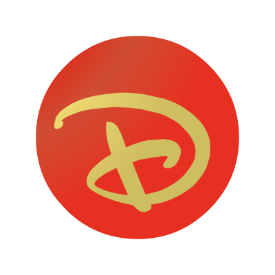 "Disney ""D"" ball logo vector logo"