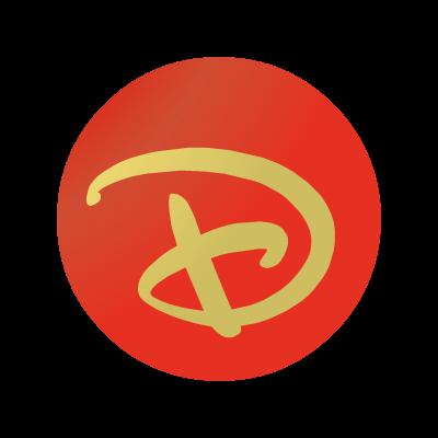 """Disney """"D"""" ball logo vector logo"""