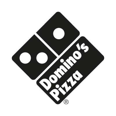 Domino's Pizza Black logo vector logo