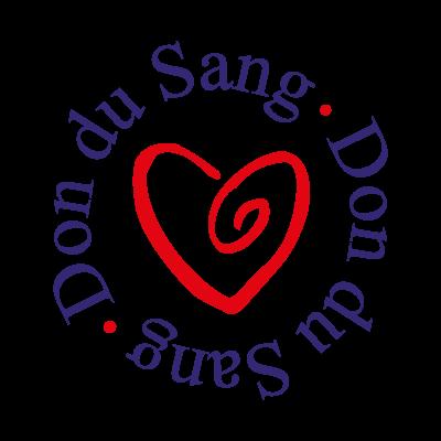 Don du sang logo vector logo