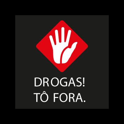 Drogas ! To Fora logo vector logo