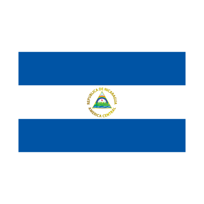 Flag of Nicaragua logo vector logo