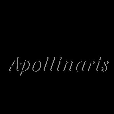 Apollinaris Black logo vector logo