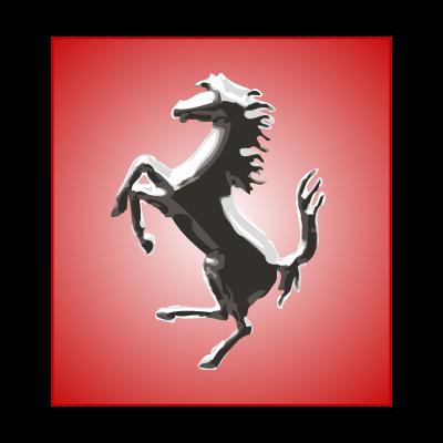 Ferrari Horse Silver logo vector logo