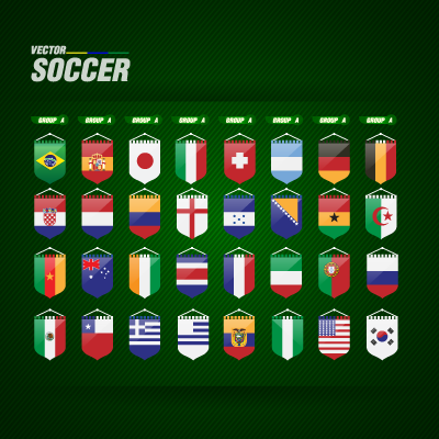 World Cup flags logo vector logo