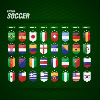 World Cup flags logo vector logo