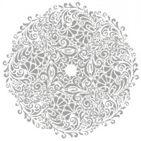 Floral round background Tattoo download vector