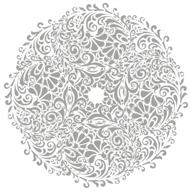 Floral round background Tattoo download vector logo