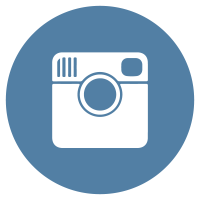 Instagram flat icon circle logo