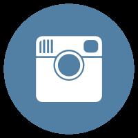 Instagram flat icon circle logo
