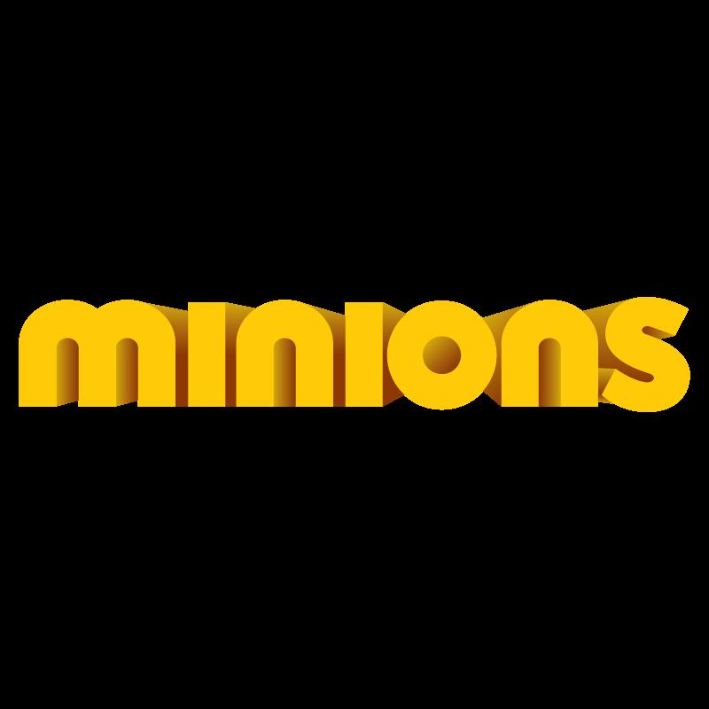 Minions (film) logo vector logo