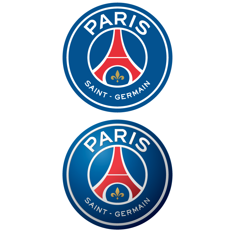 New Paris Saint-Germain FC (2D + 3D) logo vector logo