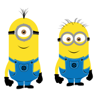 Minions characters vector