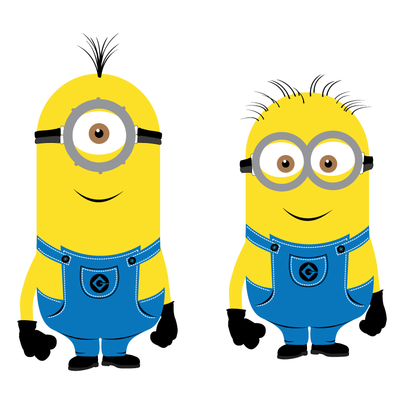 Minions characters vector logo