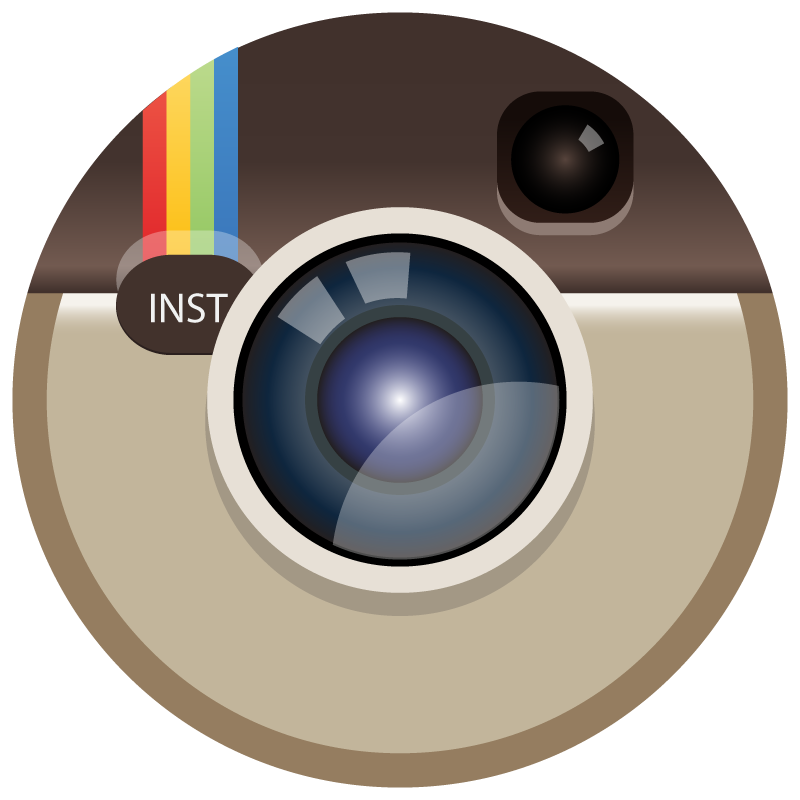 Instagram color icon Circle logo vector logo