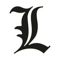 """L"" letter from Death Note logo"
