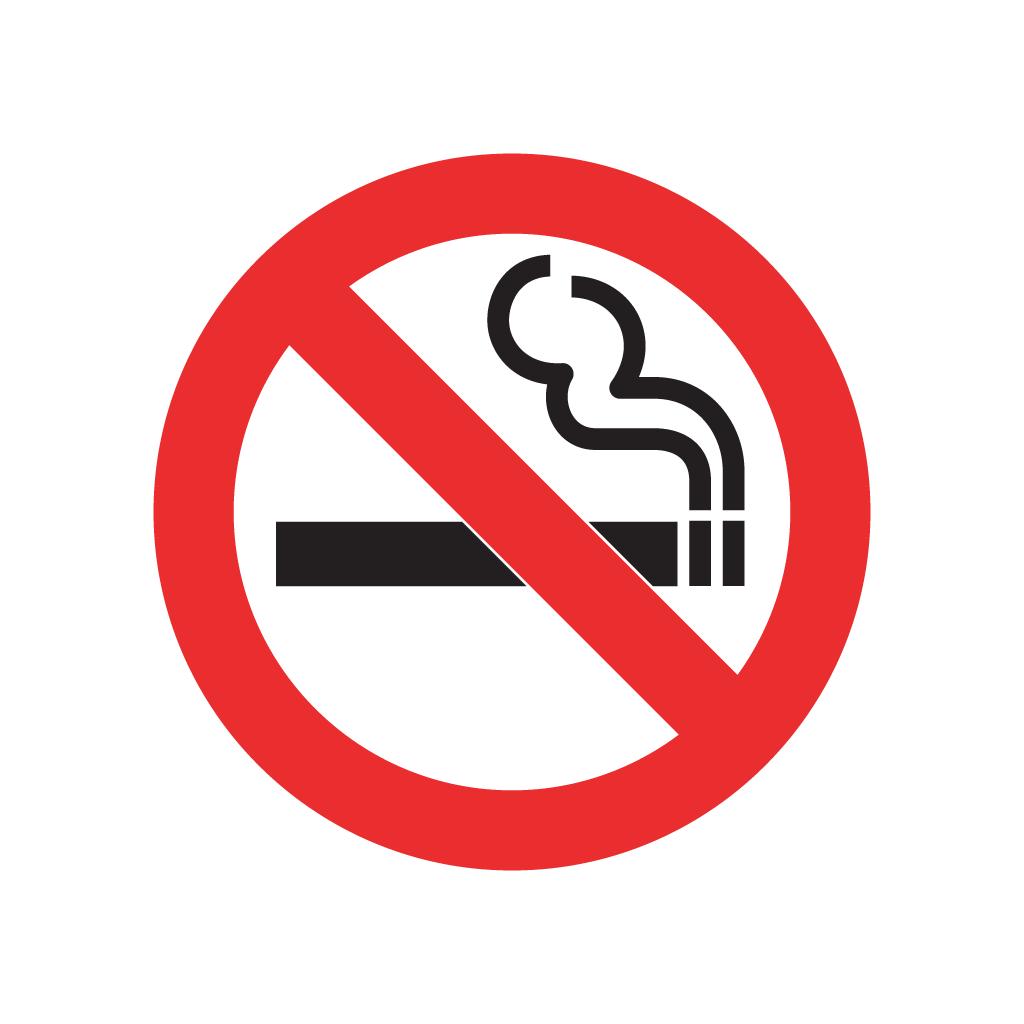No Smoking Sign vector logo